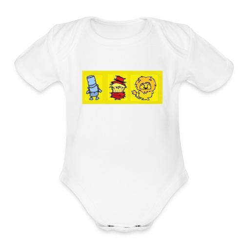 Oz trio baby one piece - Organic Short Sleeve Baby Bodysuit