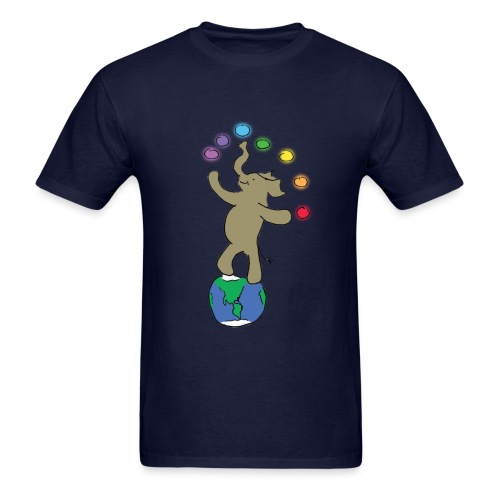 Dancing Ellie the magical elephant - Men's T-Shirt