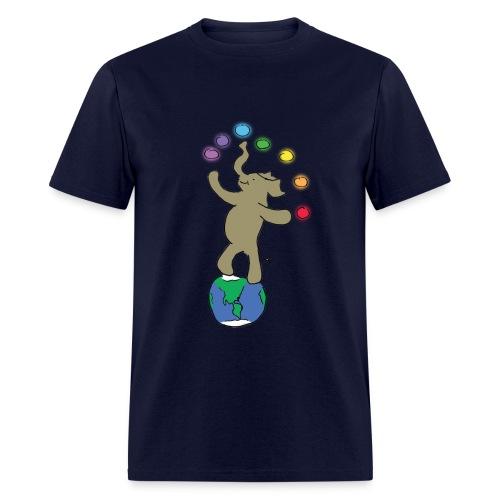 Dancing Ellie the magical elephant - Men's T-Shirt