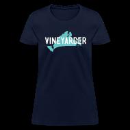 T-Shirts ~ Women's T-Shirt ~ Vineyarder w/ Island and MVY sticker