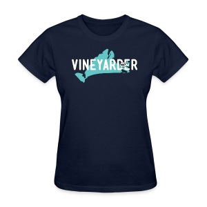 Vineyarder w/ Island and MVY sticker - Women's T-Shirt