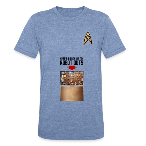 Robot Guts (Vintage) - Unisex Tri-Blend T-Shirt