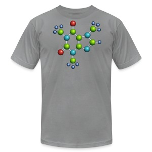 caffeine molecule shirt - american apparel - Men's T-Shirt by American Apparel