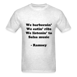 Barbecue, ribs, Salsa Music - Men's T-Shirt