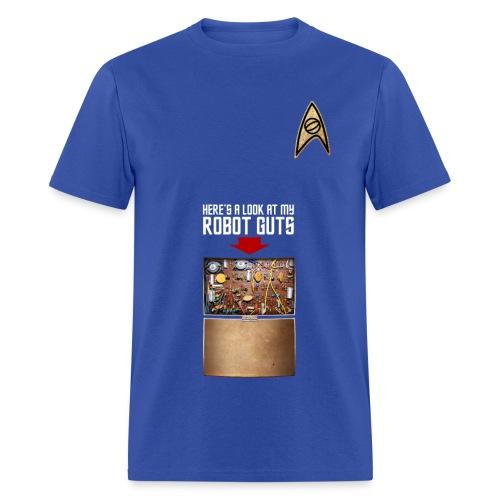 Robot Guts (Blue) - Men's T-Shirt