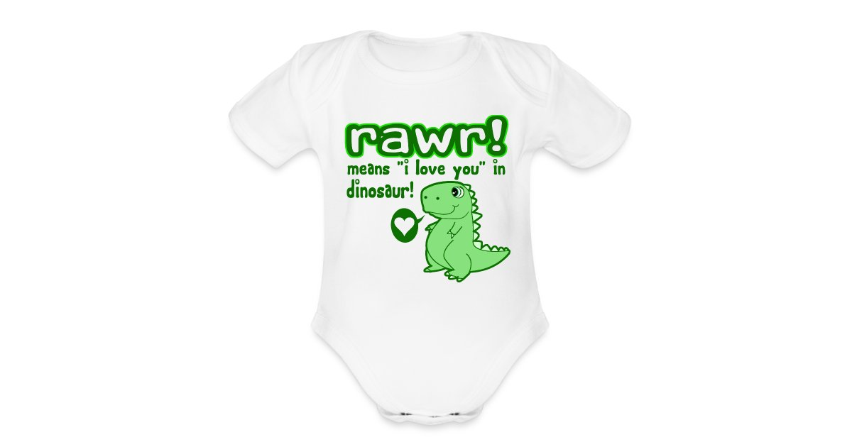 Rawr Means I Love You In Dinosaur Baby T Shirt