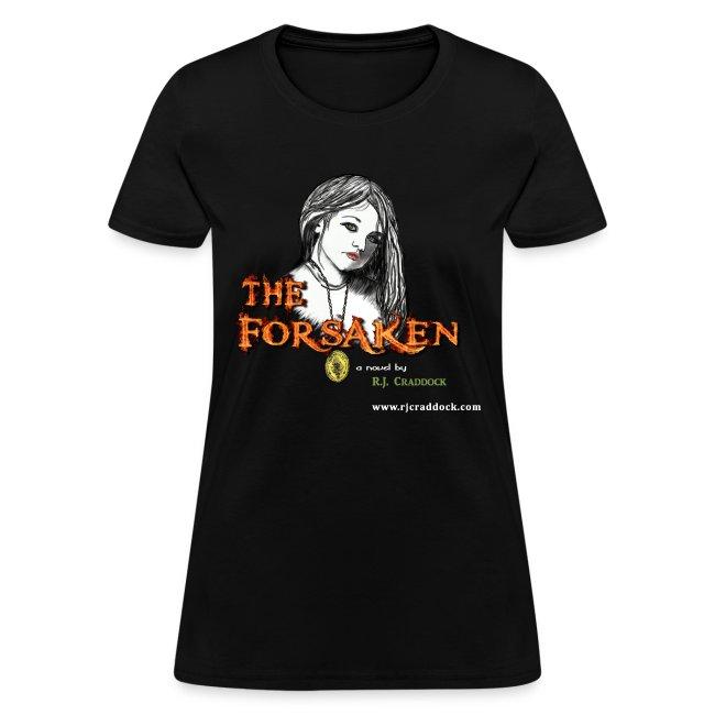 """The Forsaken"" Book tee in black"