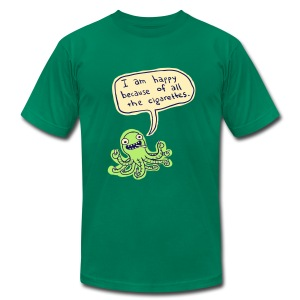 Ozzie the Chain-smoking Octopus - Men's Fine Jersey T-Shirt