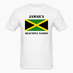 Jamaica Flag + Text T-Shirt