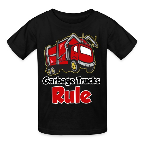 Garbage Trucks Rule - Kids' T-Shirt