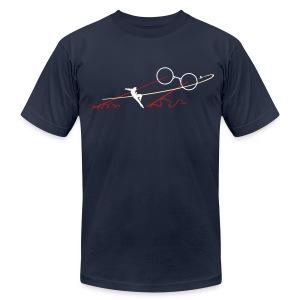 Navy TJ Boss Fight AA Tee - Men's Fine Jersey T-Shirt