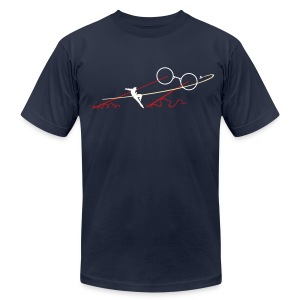 Navy TJ Boss Fight AA Tee - Men's T-Shirt by American Apparel