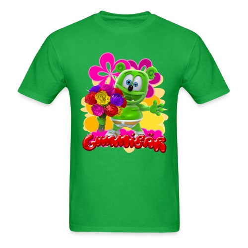 Gummibär (The Gummy Bear) Flowers Men's T- - Men's T-Shirt