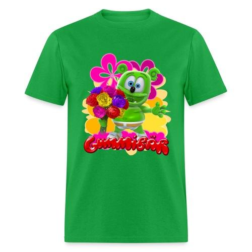 Gummibär (The Gummy Bear) Flowers Men's T- - Men's T-Shirt