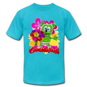 Gummibär (The Gummy Bear) Flowers Men's T- - Men's Fine Jersey T-Shirt