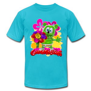 Gummibär (The Gummy Bear) Flowers Men's T- - Men's T-Shirt by American Apparel