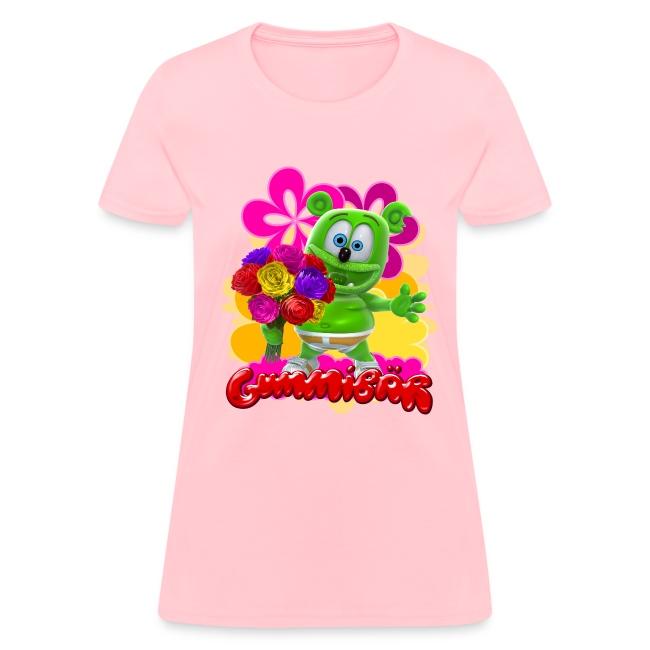Gummibär (The Gummy Bear) Flowers Women's T-
