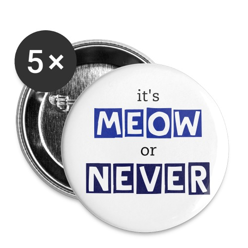 it's meow or never buttons -- dark blue - Small Buttons