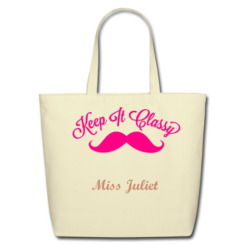 Eco-Friendly Cotton Tote - * Miss Juliet will be printed in pink sparkles *