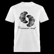 T-Shirts ~ Men's T-Shirt ~ Croissant-neuf (Black)