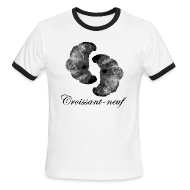 T-Shirts ~ Men's Ringer T-Shirt ~ Croissant-neuf (Black)