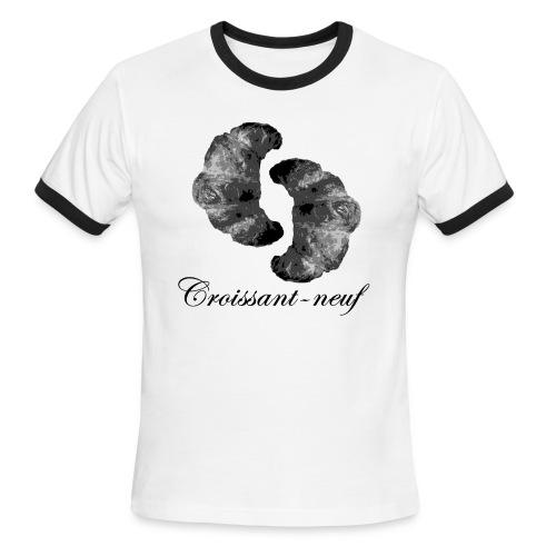 Croissant-neuf (Black) - Men's Ringer T-Shirt