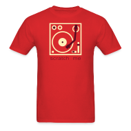 T-Shirts ~ Men's T-Shirt ~ I DJ - Scratch Me Turntable - 2 color flex