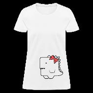 Women's T-Shirts ~ Women's T-Shirt ~ Awkward Dinosaur Female V2