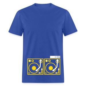 I DJ - with 2 Turntables - flex print, 2 colors - Men's T-Shirt