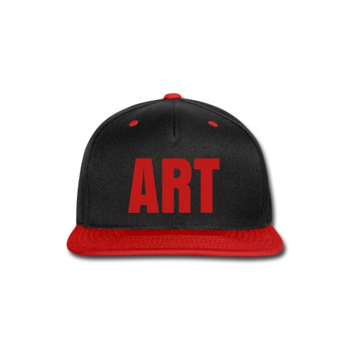 ART Snapback (Red Glitter Logo) - Snap-back Baseball Cap
