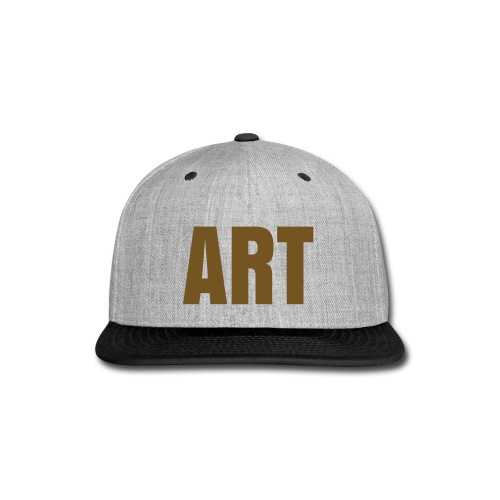 ART Snapback (Gold Glitter Logo) - Snap-back Baseball Cap