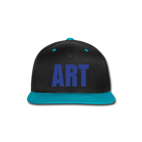 ART Snapback (Blue Glitter Logo) - Snap-back Baseball Cap