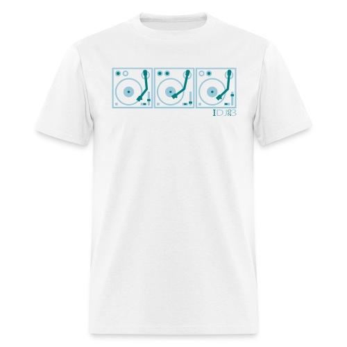 I DJ - on 3 Turntables - Semipro - 2 color flex print - Men's T-Shirt