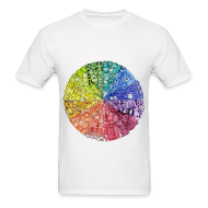 T-Shirts ~ Men's T-Shirt ~ color wheel doodle