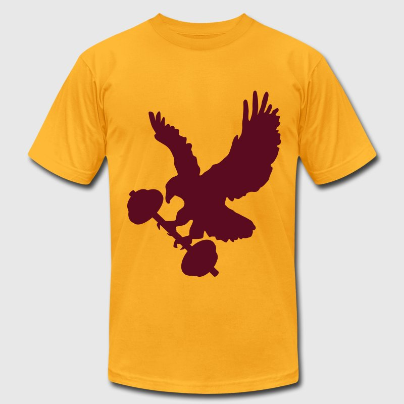 Eagle holding barbell T-Shirts - Men's T-Shirt by American Apparel