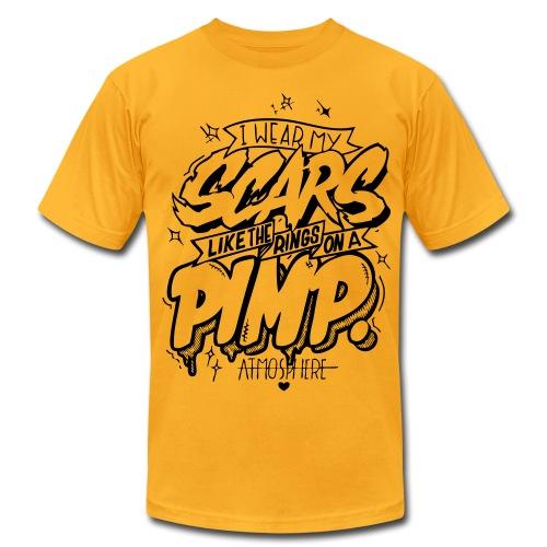 I Wear My Scars (yellow) - Men's Fine Jersey T-Shirt