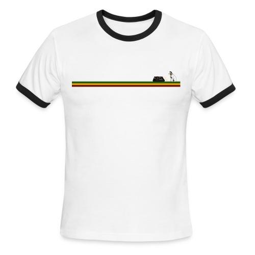 Man's Ringer T-Shirt Rasta - Men's Ringer T-Shirt