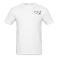 T-Shirts ~ Men's T-Shirt ~ I DJ - Love DJ - Heart DJ - 2 color FLOCK print