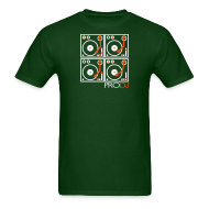 T-Shirts ~ Men's T-Shirt ~ I DJ - 4 Turntable - PRO DJ - 2 color FLOCK print