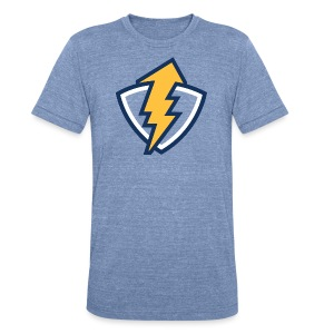 Thunder Shield - Heather Blue - Mens - Unisex Tri-Blend T-Shirt by American Apparel