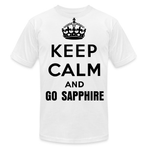 Keep Calm and Go Sapphire (Mens) - Men's T-Shirt by American Apparel