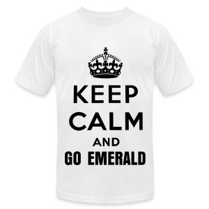 Keep Calm and Go Emerald (Mens) - Men's T-Shirt by American Apparel