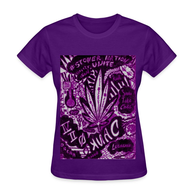 Purple StonerNation by @DankRaven420 - Women's T-Shirt