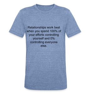 Thought #286 - Unisex Tri-Blend T-Shirt by American Apparel