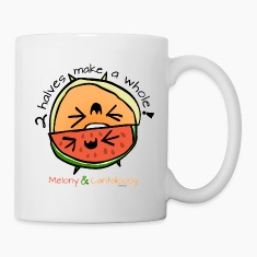"Melony & Cantaloopy, ""2 halves make a whole!"" Bottles & Mugs"