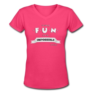 Women's Impossible V-Neck - Women's V-Neck T-Shirt