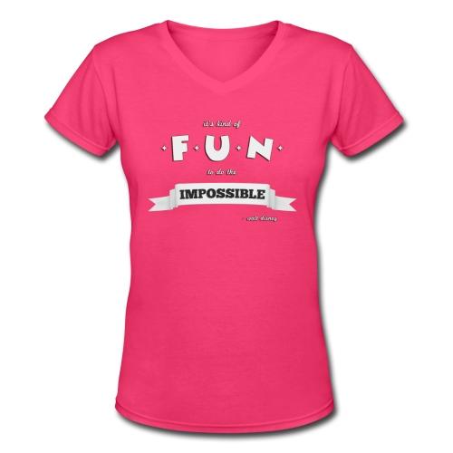 Women's Impossible V-Neck - Women's V-Neck T-Shirt
