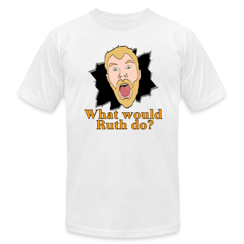 What would Ruth do? Slim Fit Shirt - Men's  Jersey T-Shirt