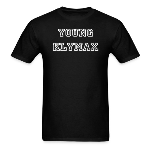 Young Klymax Tags White Text Tee - Men's T-Shirt