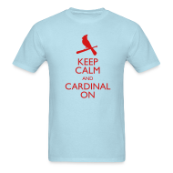 T-Shirts ~ Men's T-Shirt ~ Keep Calm and Cardinal On - Blue